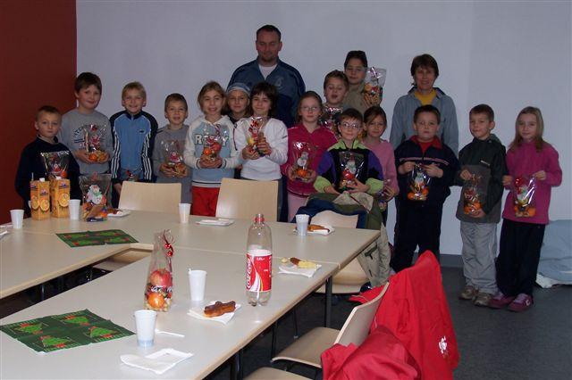 Gouter Noel 2005 école de tennis